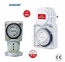 TIMER PRESA ELETTRICA 230V SPINA PROGRAMMABILE TEMPORIZZATA IP44 TIMER  24 ORE