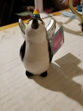 Winged Unicorn Penguin Figurine Ceramic Fantasy Collectible with tags