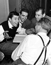 JERRY LEWIS WITH NORMAN LEAR AND OTHER WRITERS IN 1951 - 8X10 PHOTO (OP-174)