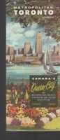 Metropolitan Toronto Canada Queen City Travel Brochure 1950s