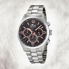 Relojes de pulsera Chrono de acero inoxidable plateado acero inoxidable