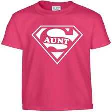 SUPER AUNT Funny Mothers Day Birthday Christmas Shower Auntie Gift Tee T Shirt