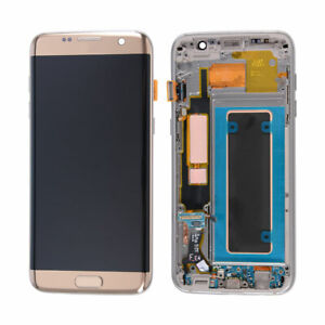 LCD Display Touch Screen + Frame For Samsung Galaxy S7 Edge G935A G935V OEM Gold