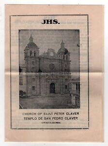 1920s CHURCH SAINT PETER CLAVER Jesuit CARTAGENA COLOMBIA Brochure CATHOLIC