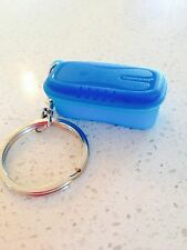 Tupperware Keychain Pasta Maker Aqua Blue Collectible New