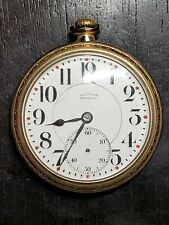 Illinois 16 Size, 19 Jewel Open Faced Gold Filled Pocket Watch
