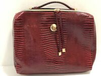 ESTEE LAUDER LARGE RED COSMETIC MAKE UP BRIEF CASE/BAG