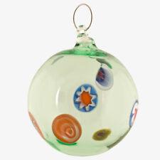 Palla Natale pallina verde per albero vetro Murano soffiato murrina millefiori