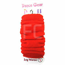NEW LADIES GIRLS LEG WARMERS FOOTLESS RED DANCE FANCY DRESS PARTY