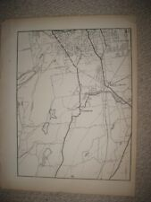 ANTIQUE 1931 NEW BRITAIN BERLIN KENSINGTON HARTFORD COUNTY CONNECTICUT MAP RARE