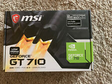 MSI GeForce GT 710 2GB DDR3 Graphics Card (GT 710 2GD3 LP) USED ONCE!