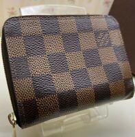 Authentic Louis Vuitton Damier   Zippy Coin Purse Card case Mini wallet