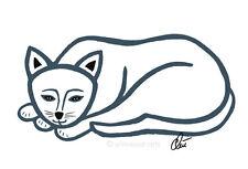 Jacqueline ditt-Sig. CAT-Outline grafica originale immagini firmati GATTO MICIO