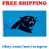Deluxe Carolina Panthers Team Logo Flag Banner 3x5 ft NFL Football 2019 NEW