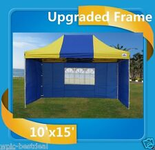 10'x15' Pop Up Canopy Party Tent Ez - Blue Yellow - F Model Upgraded Frame