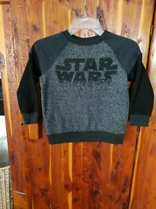 Boys Star Wars Pullover Sweatshirt Black And Gray Size Extra Small