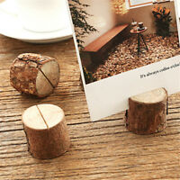 10x Wooden Party Table Number Stand Place Name Card Holder Decoration Decor BH09