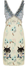 Miu Miu by Prada Sequined Crystals Beads Embellished Dress