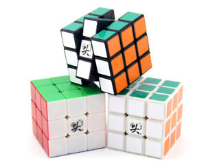 Dayan Guhong Black White 3x3x3 Professional Speed Magic Cube 6 Colors No Sticker