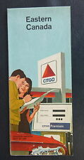 1966 Eastern Canada road map  Citgo Cities Service  oil gas Ed McMahon
