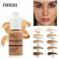 PHOERA Matte Full Coverage Liquid Foundation Concealer Powder Face Cream Makeup