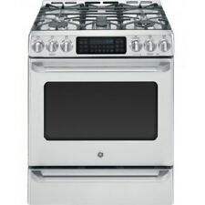 """Ge Cgs985Setss Café Series 30"""" Slide-In Front Control Range with Baking Drawer"""