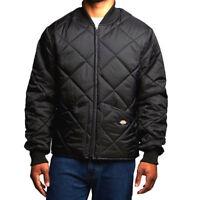 Dickies Men's Diamond Quilted Nylon Jacket in Black - XL