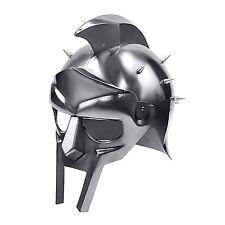 GLADIATOR MAXIMUS ROMAN SPIKED HELMET Functional 18ga Steel Medieval Armor Plate