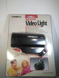 Ambico Cordless Camcorder Video Light V-8810 Super Compact 10 Watt Sealed