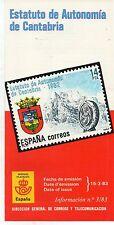 España Estatuto de Autonomía de Camtabria año 1983 (DG-930)