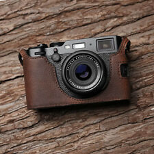 Genuine Leather Half Camera Case Bag Bottom Cover Holder For Fujifilm X-100F