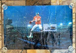 """JOHN ELWAY POSTER-MILE HIGH STADIUM-NFL 80's DENVER BRONCOS-Vintage-22x34"""""""