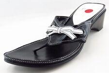 Linea Paolo Flip Flops Black Synthetic Women Shoes Size 9.5 Medium (B, M)