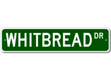 WHITBREAD Street Sign - Personalized Last Name Signs