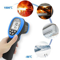 Non-Contact Digital Laser Infrared Thermometer Gun Handhold 1500°C Ship from CN
