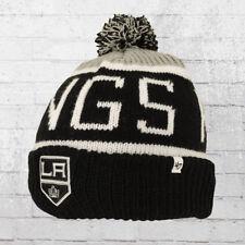 47 Brands Strick-Mütze Los Angeles Kings Beanie schwarz Bommelmütze Pudelmütze