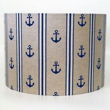 Navy Nautical Anchor Sailing Ceiling Light Shade or Table Lampshade in 2 sizes