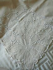 More details for vintage cotton/linen large tablecloth~ideal for xmas~ 52