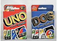 Mattel Uno Card Game Bundled with Dos Card Game, Multicolor Perfect Family Gift