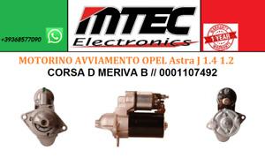 MOTORINO AVVIAMENTO // OPEL Astra J 1.4 1.2 CORSA D MERIVA B // 0001107492