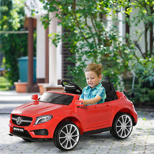 6V Kids Licensed Ride On Car Electric Powered High/Low Speed Headlight Music Red
