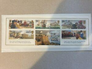 Guernsey siege of castle cornet 1643/51 Mini Sheet stamps