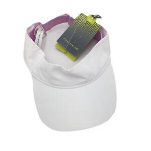 New Tek Gear Womens Visor Tennis Cap Hat White Size OS