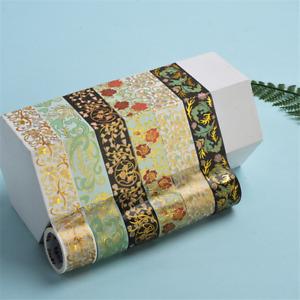 Retro vine flower series Bronzing Washi Tape Sticker Scrapbooking Decor