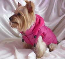 Handgenäht Hundejacke Regenmantel Hundemantel Hund Shih Tzu York Pink XXXXS