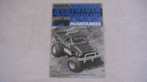 VINTAGE TAMIYA 1/10 SCALE MOUNTAINEER 4X4 TOYOTA PICK-UP TRUCK  MANUAL