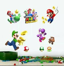 Super Mario Brothers Wall Decal Stickers Childs Bedroom Game Room Nursery Yoshi