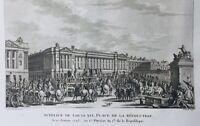 Louis 16 Guillotiné 1793 Paris Place Concorde Rare Gravure Révolution Française