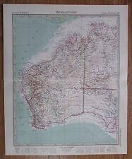 1926 West-Australien Western Australia Kupferstich Alte Landkarte Old Map
