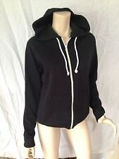 BNWT Womens Sz M 12 Target Brand Black Long Sleeve Stretch Hoodie Gym Jacket